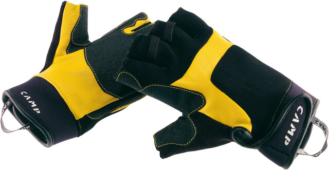 Camp Pro Fingerless Gloves yellowblack
